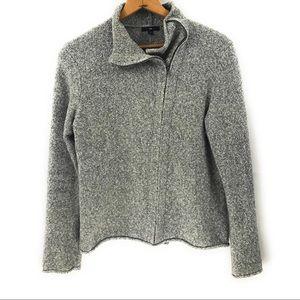 Gap Women's Gray Zip Cardigan Sweater, XL